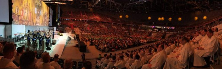 Mass at the English center. Photo credit: Fr. Josh Mayer