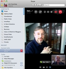 Skype for Mac 5: Video Call with Dan York