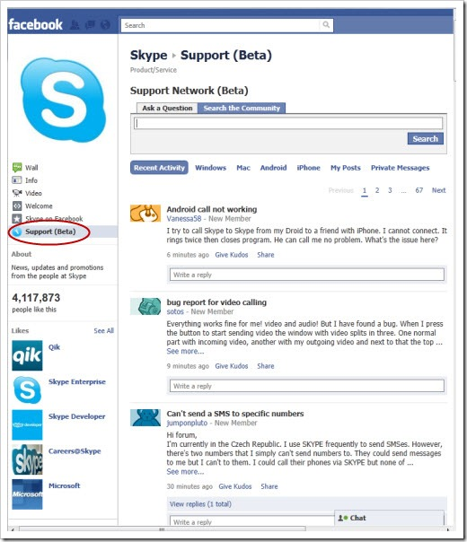 SkypeFacebookSupportPage.2Aug11