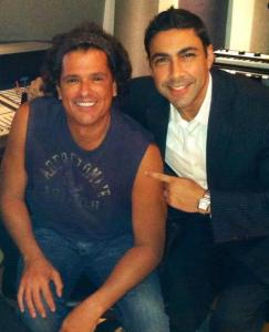 Jesus Salas with International Colombian super star Carlos Vives