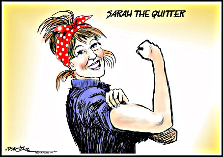 Image result for sarah palin quitter