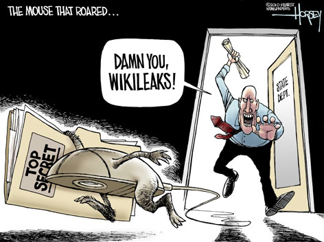 Comic Riffs  WIKILEAKS The most eyecatching cartoons