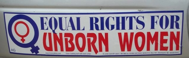 Equal rights for unborn women