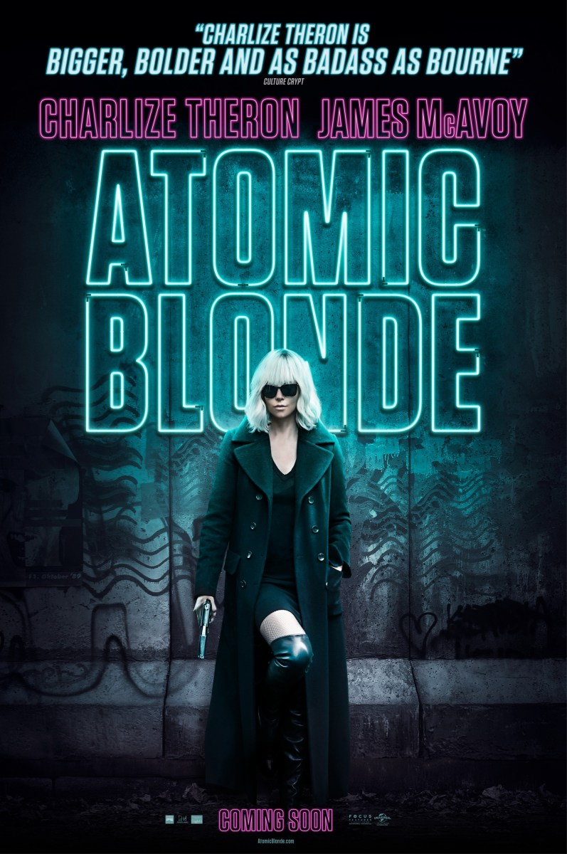 Charlize Theron Atomic Blonde Artwork, Teasers, Restricted Trailer & Clips