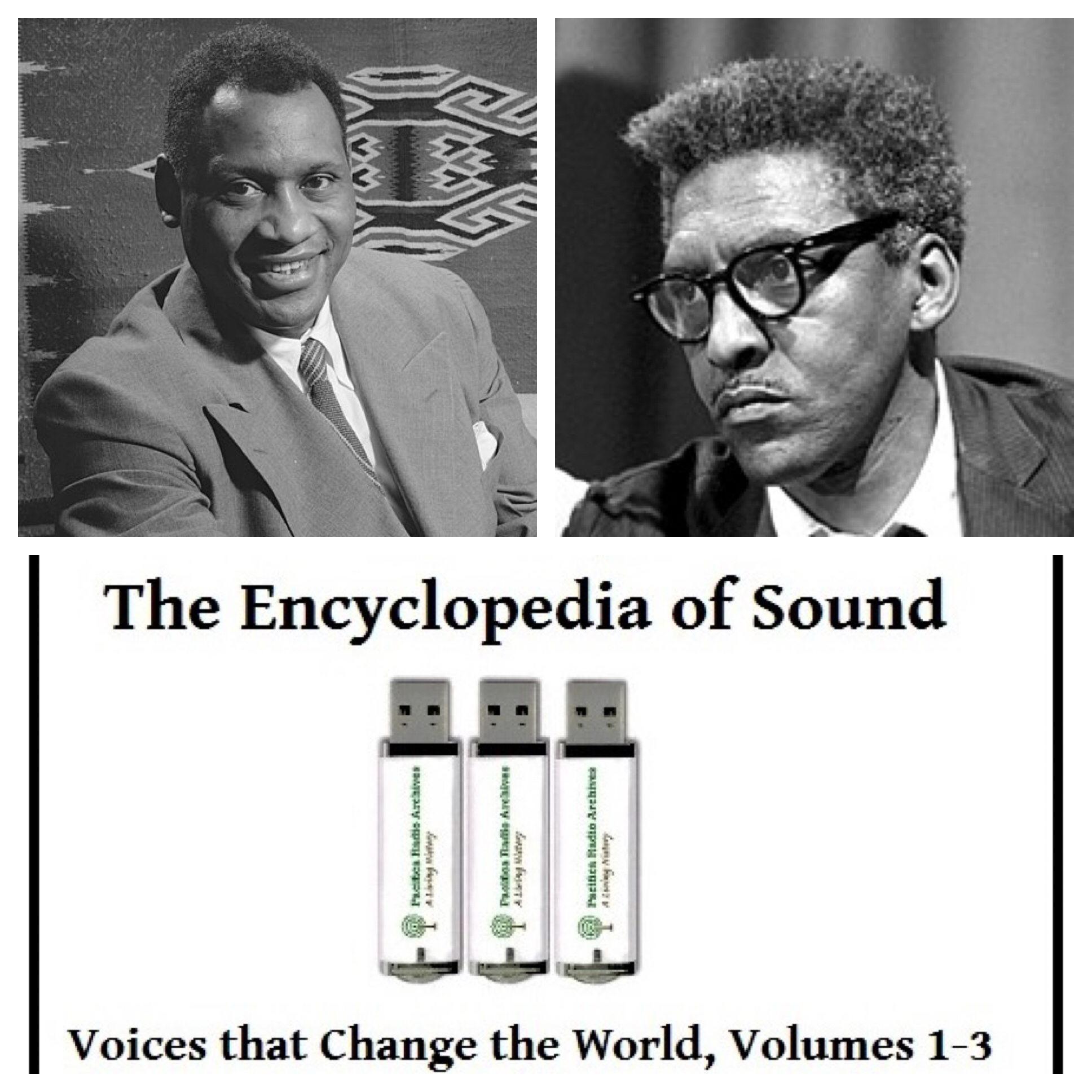 Voices Radio: Eric, Channing, KPFK's Alan Minsky, and Pacifica Radio's Director of Archives Mark Torres discuss the history-making, and humanity-improving work that Pacifica Radio Archives has captured and features in a collection of audio recordings called The Encyclopedia of Sound.
