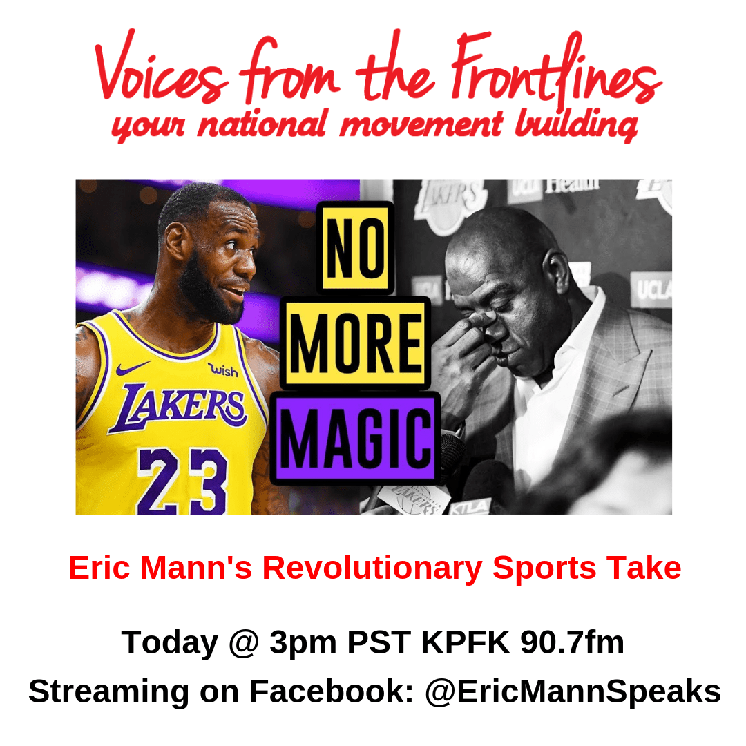 #TodayOnVoicesRadio Eric Mann's Revolutionary Sports Take
