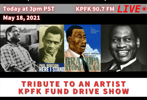TODAY ON VOICES: Tribute to an Artist, KPFK Fund Drive show