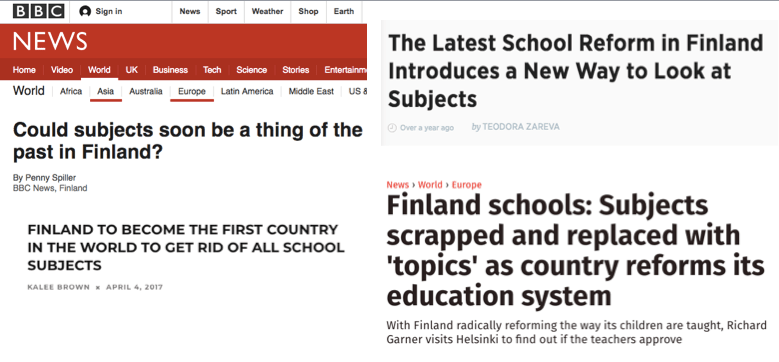 Demystifying the Finnish Education System, Part II: Is Finland abolishing school subjects?