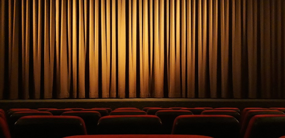 Spotlight on a stage in theater