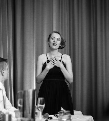 Singing at a wedding Georgia Gray