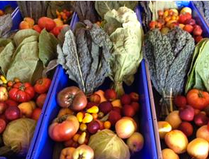 Some of the produce grown in Long Beach farms.