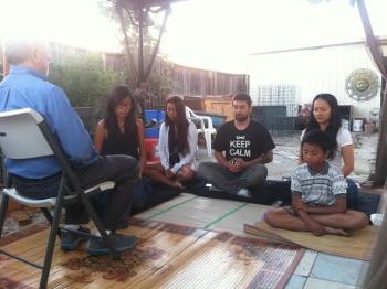 Outdoor Meditation at the MAYE Center.