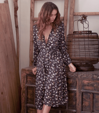 Tigerlily Malai Dress Malbec