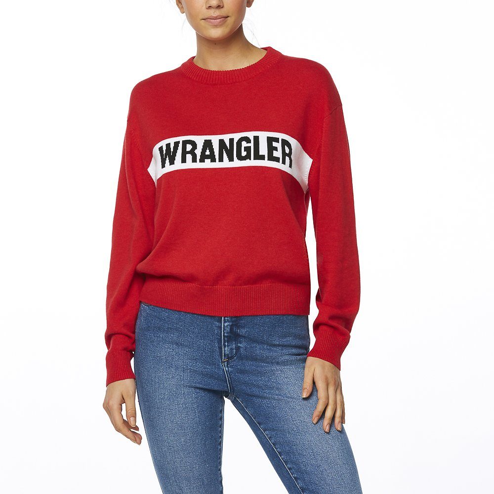 737821329a80 Wrangler Riva Panel Sweater Red. 🔍.   99.95. or 4 fortnightly payments of    24.99 with Afterpay