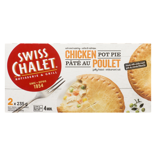 swiss chalet chicken pot pie 2 x 235 g