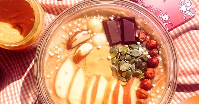 Porridge de mijo con manzana y chocolate