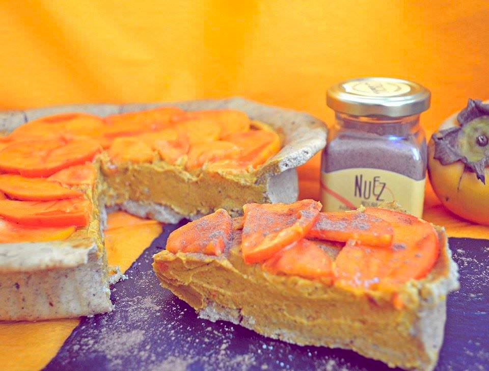 tarta vegana de calabaza para Halloween