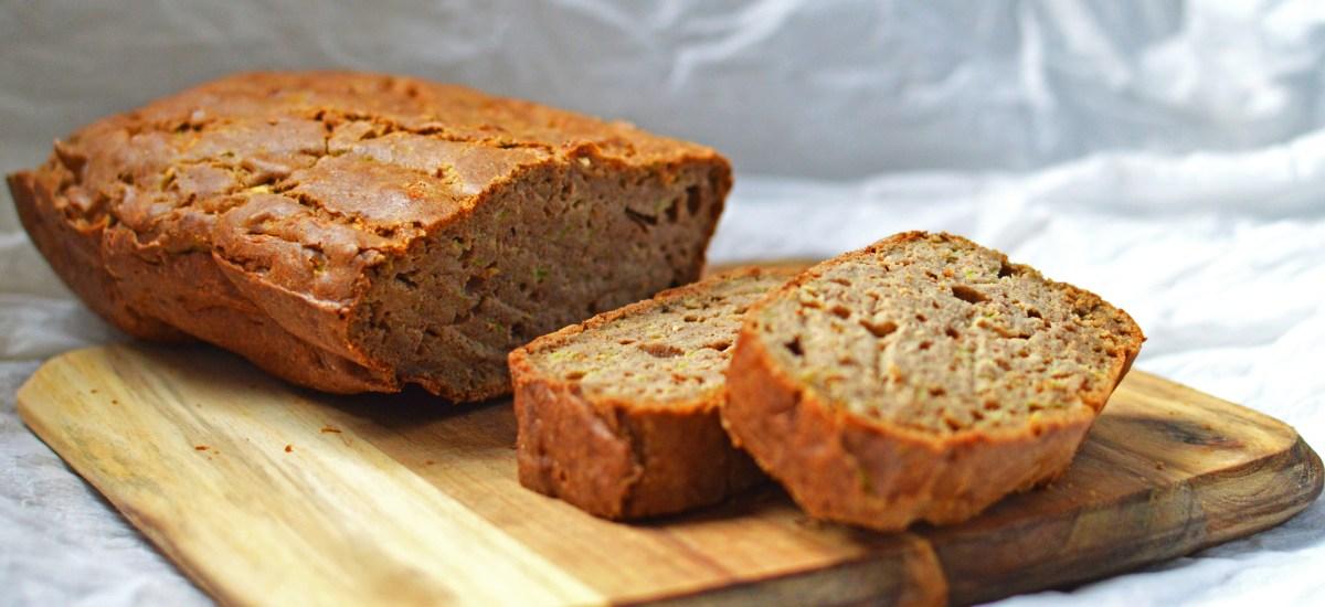 Pan de calabacín sin gluten ni levaduras