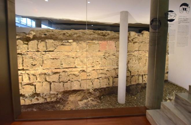 ancient wall arab rector university malaga