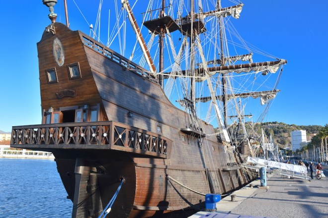 andalusia galleon malaga port
