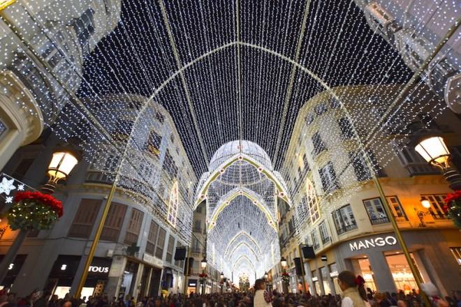 cosas que ver en Málaga en navidad calle larios