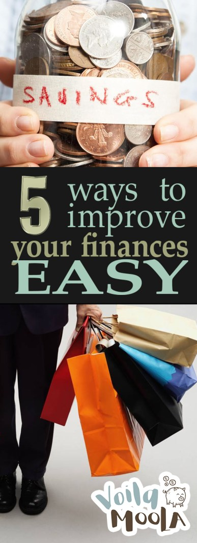5 Ways to Improve Your Finances EASY| Financial Planning, Financial Goals, Financial Organization, Finance Tips, Money, Money Saving Tips #FinanceTIps #FinancialOrganization #MoneySavingTips