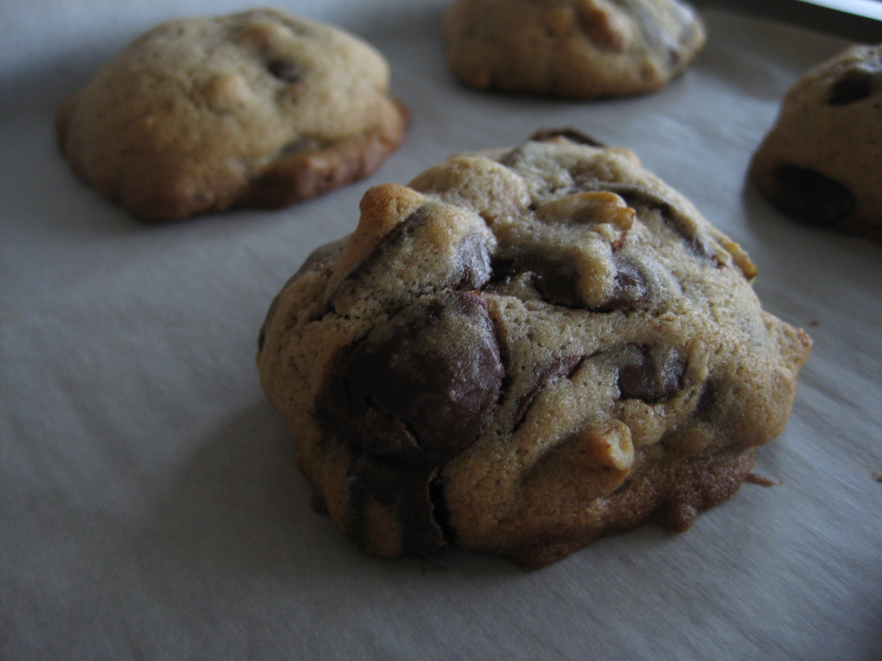 spiced chocolate chip pecan cookies