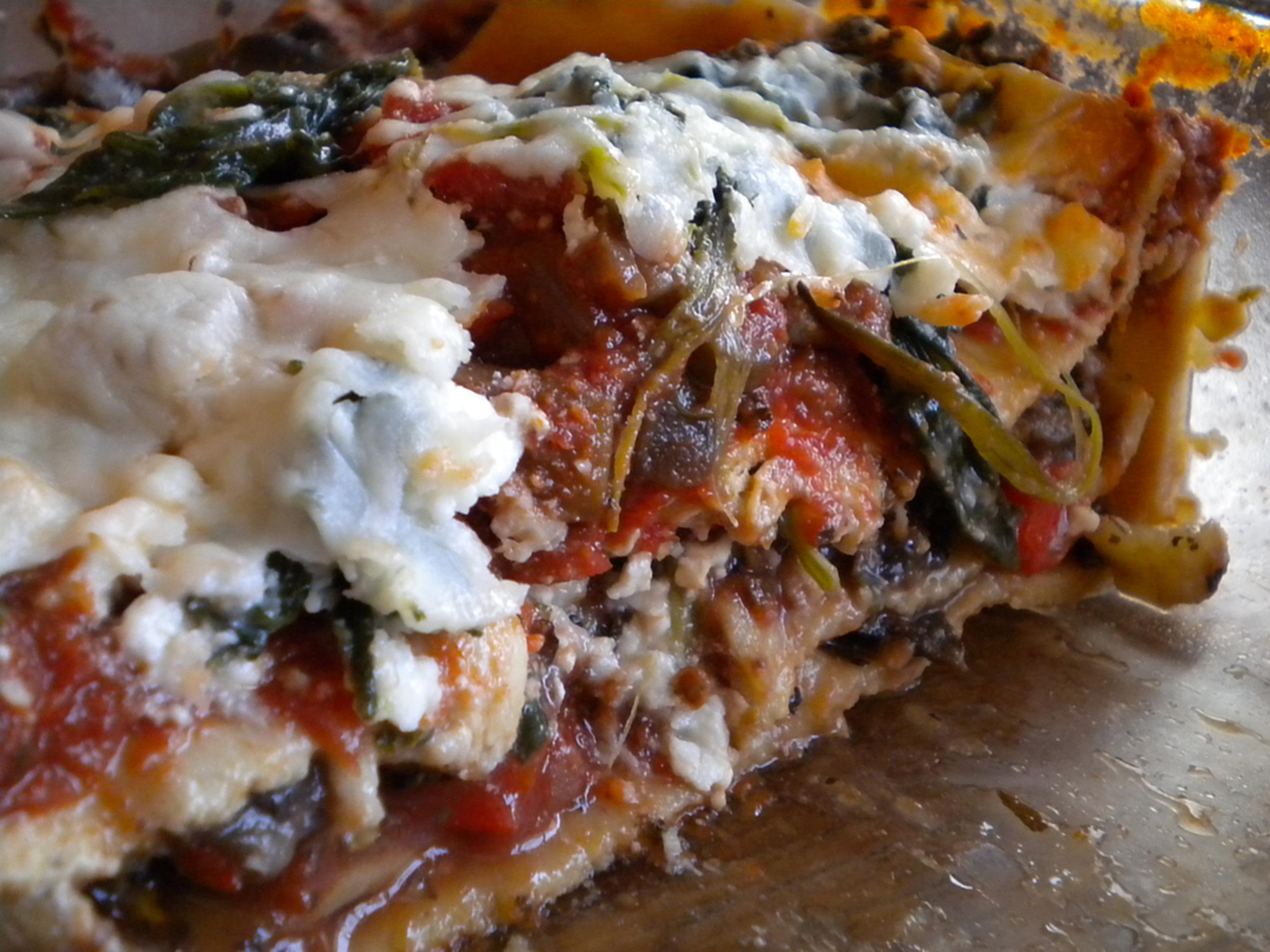 lighter veggie lasagna