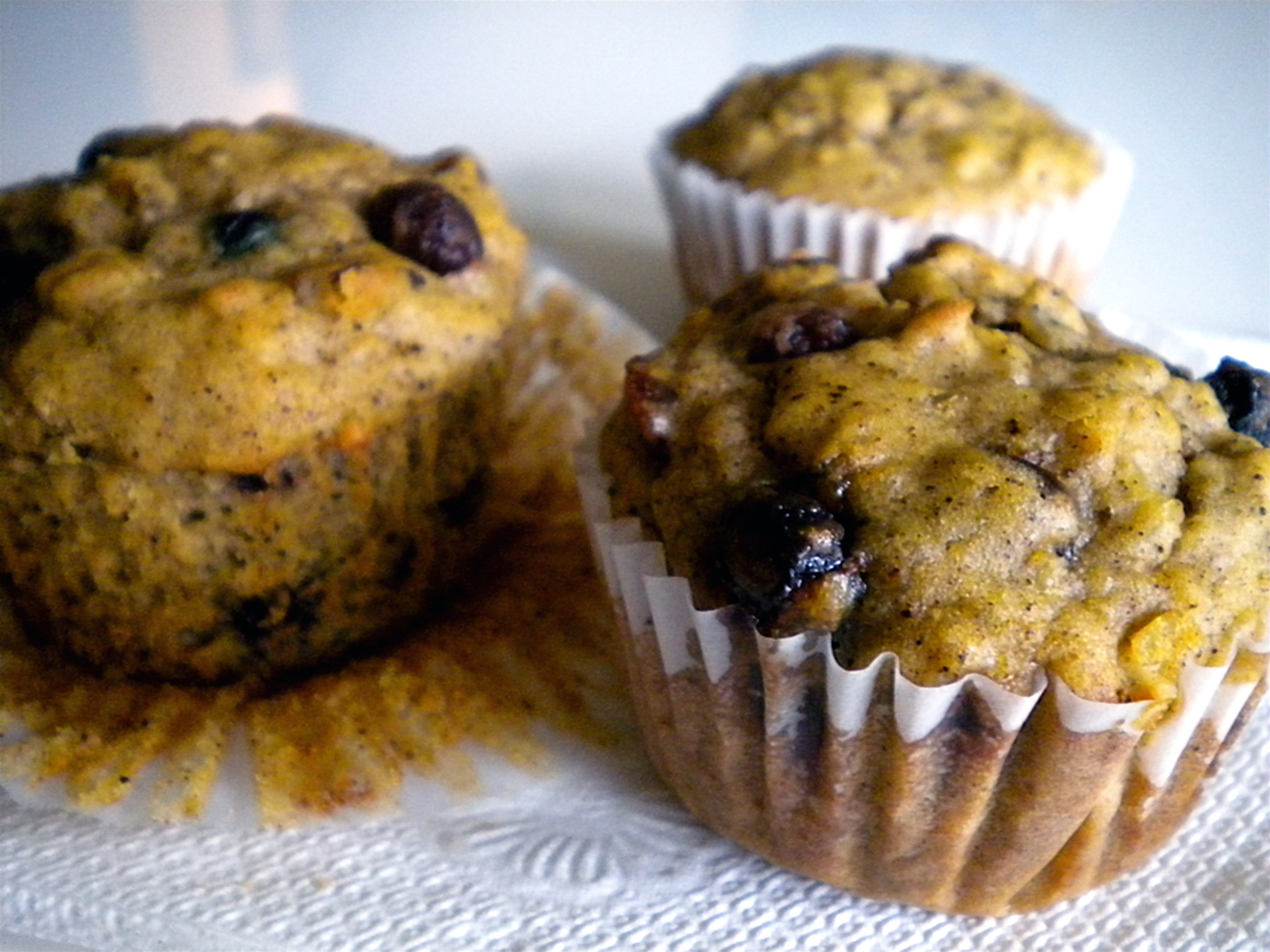 fruit and nut oatmeal muffins