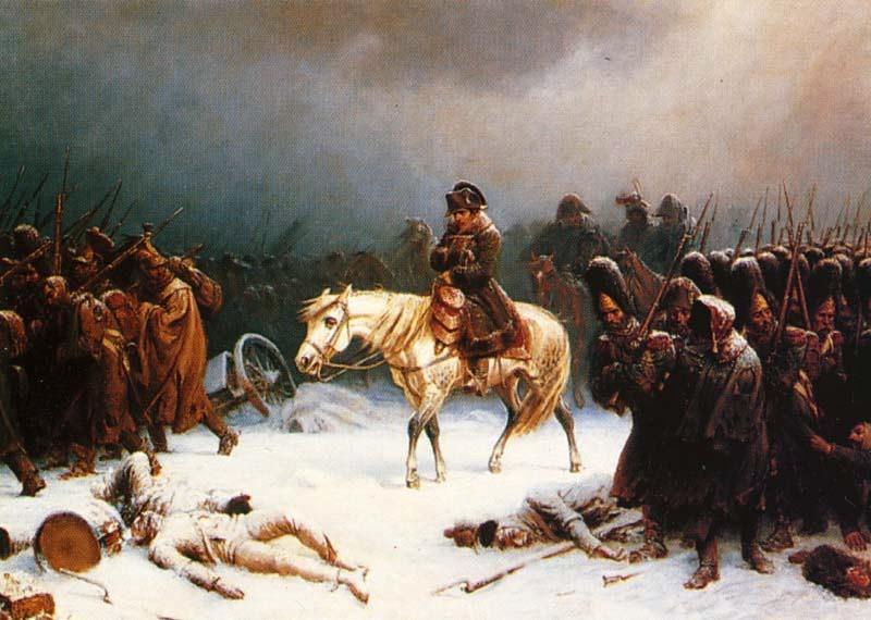 """Резултат с изображение за """"Наполеон Бонапарт се оттегля от Москва."""""""""""