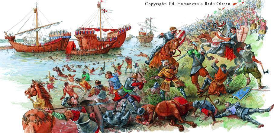Илюстрация на битката при Никопол.