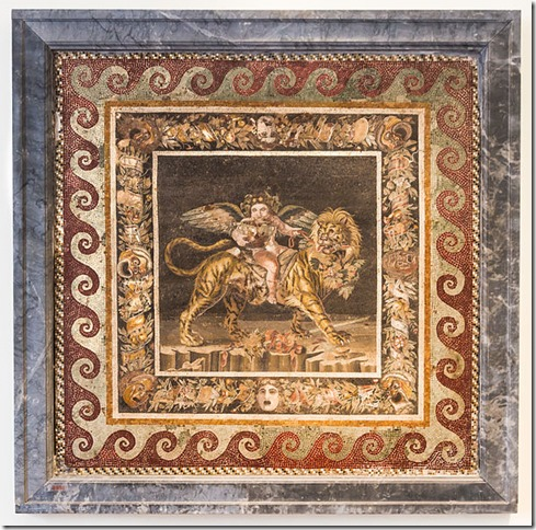 Dionysos buvant et chevauchant un tigre