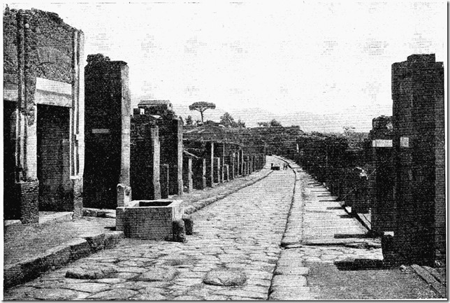 Rue de l'Abondance à Pompéi