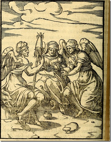Les Parques - Les images des dievx des anciens - contenans les idoles, covstvmes, ceremonies, et autres choses appartenans à la religion des payens (1581)