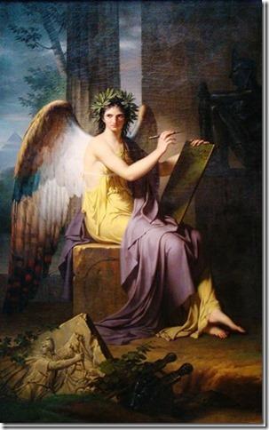 Clio, Muse de l'histoire par Charles Meynier