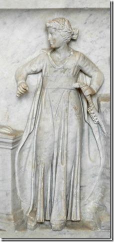 Euterpe, Muse de la Musique, Sarcophage du Louvre