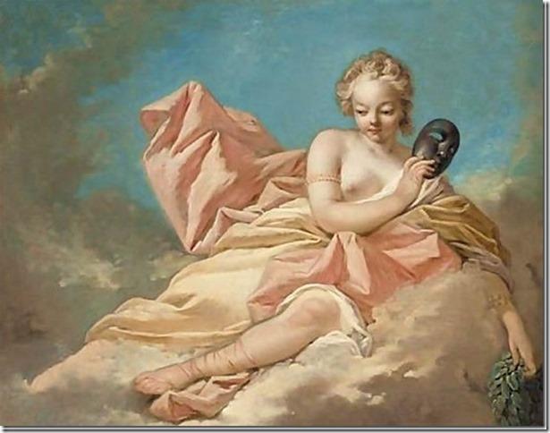 Melpomène, Muse de la Tragédie par N. R. Jollain
