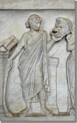 Thalie, Muse de la Comédie, sarcophage du Louvre