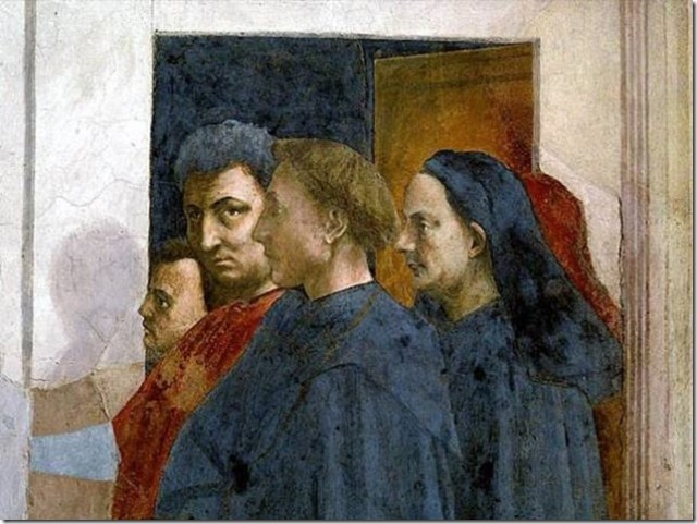 Portrait de Masolino, de Masaccio, d'Alberti et de Brunelleschi