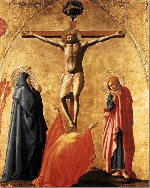 Crucifixion, Polyptyque de Pise, Masaccio, Musée National de Capodimonte, Naples