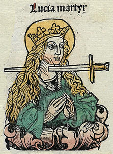 Sainte Lucie, Chronique de Nuremberg