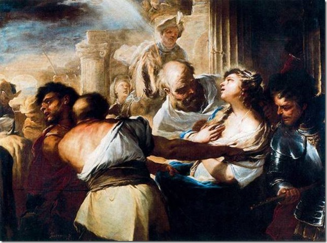 Sainte Lucie conduite au martyre de Luca Giordano