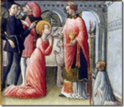 Dernière communion de Sainte Lucie par quirizio da Murano
