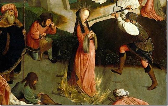Le martyre de sainte Lucie