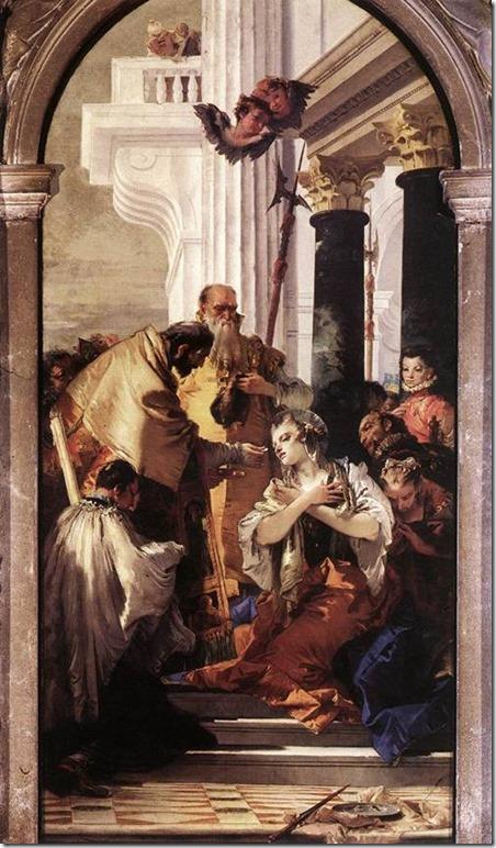 La dernière communion de Sainte Lucie,Tiepolo, église Santi Apostoli di Cristo, Venise