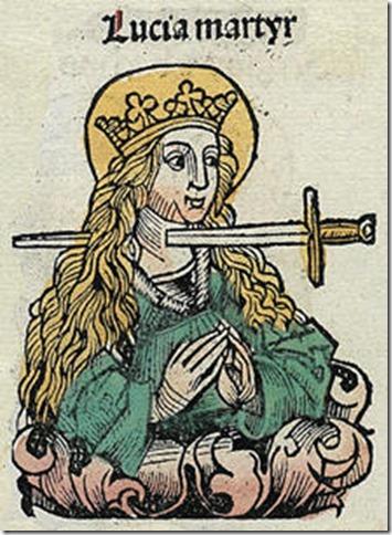 Sainte Lucie, Chroniques de Nuremberg