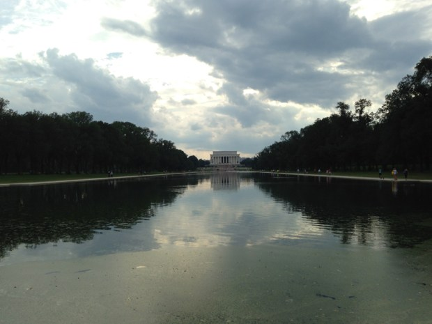 Perspective sur le Lincoln Memorial