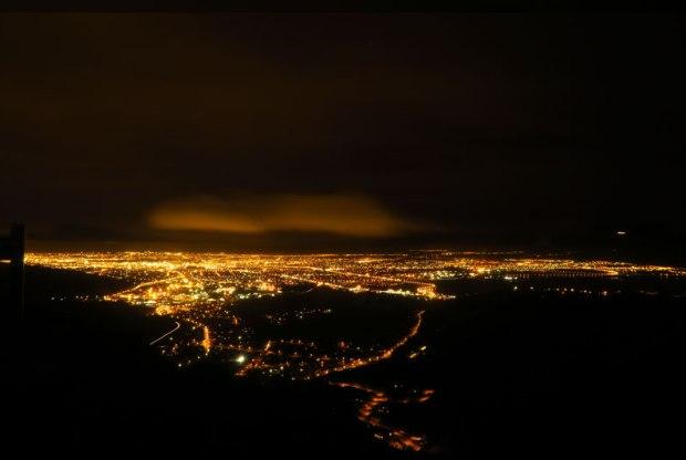 """Christchurch vu du """"afternoon highline spot""""."""
