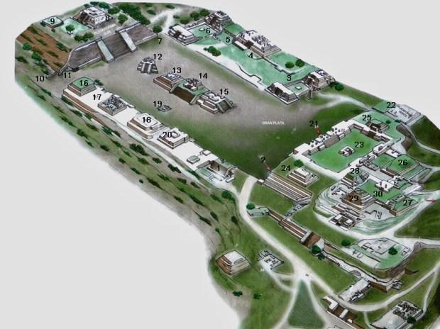 Axonométrie du site archéologique