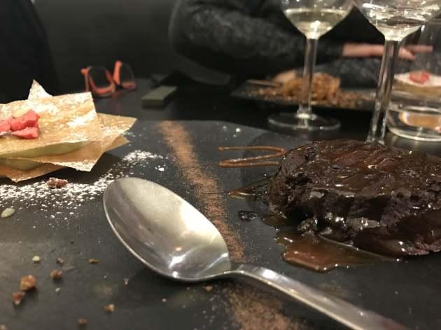Moelleux au chocolat, caramel à l'amarula
